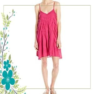 Volcom Sundress M 12 Cami Shift Pom Pom